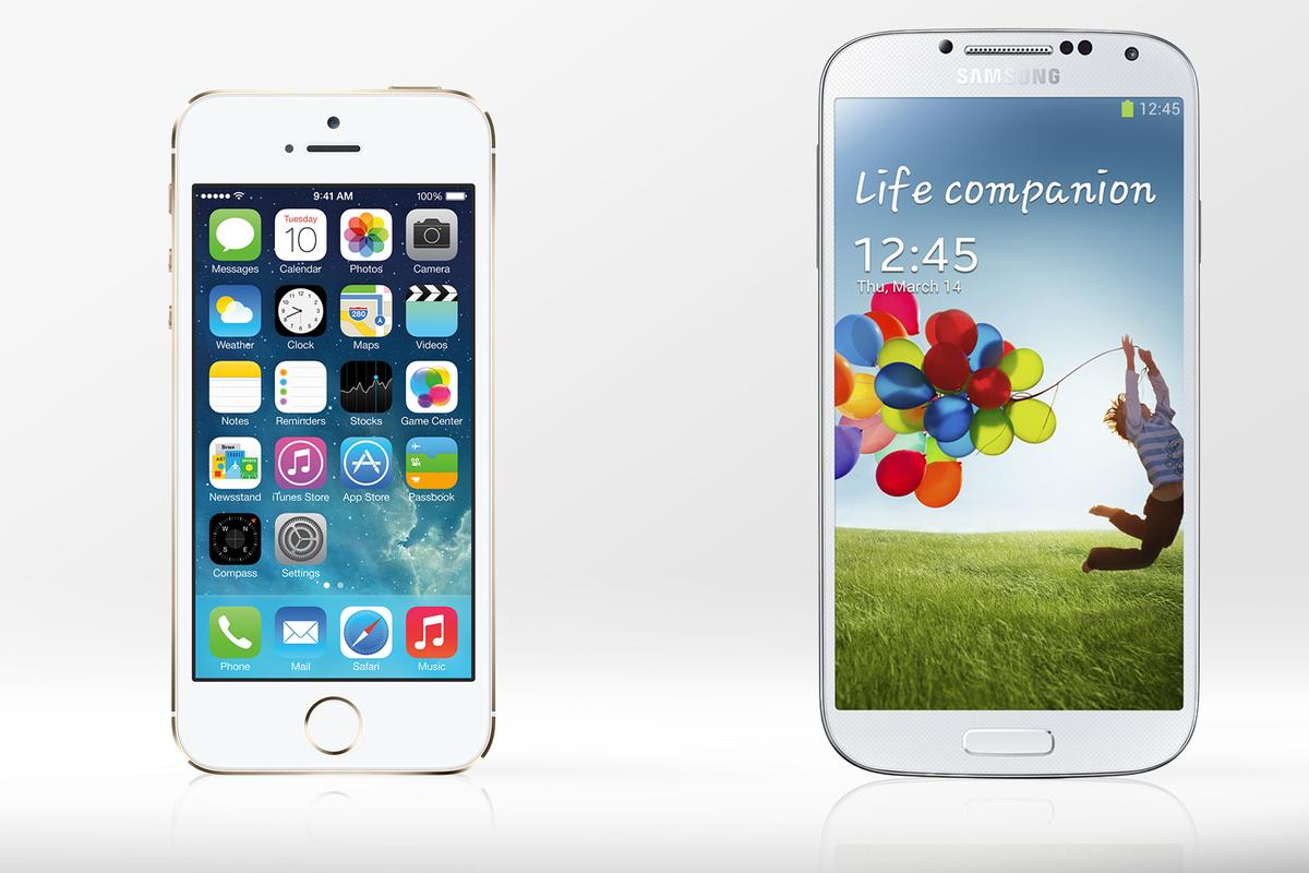 Gizmag compares the specs and features of the new iPhone 5s and Samsung's Galaxy S4
