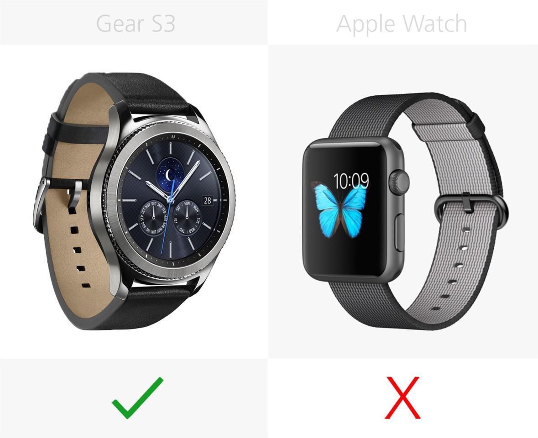 Samsung Gear S3 vs  Apple Watch