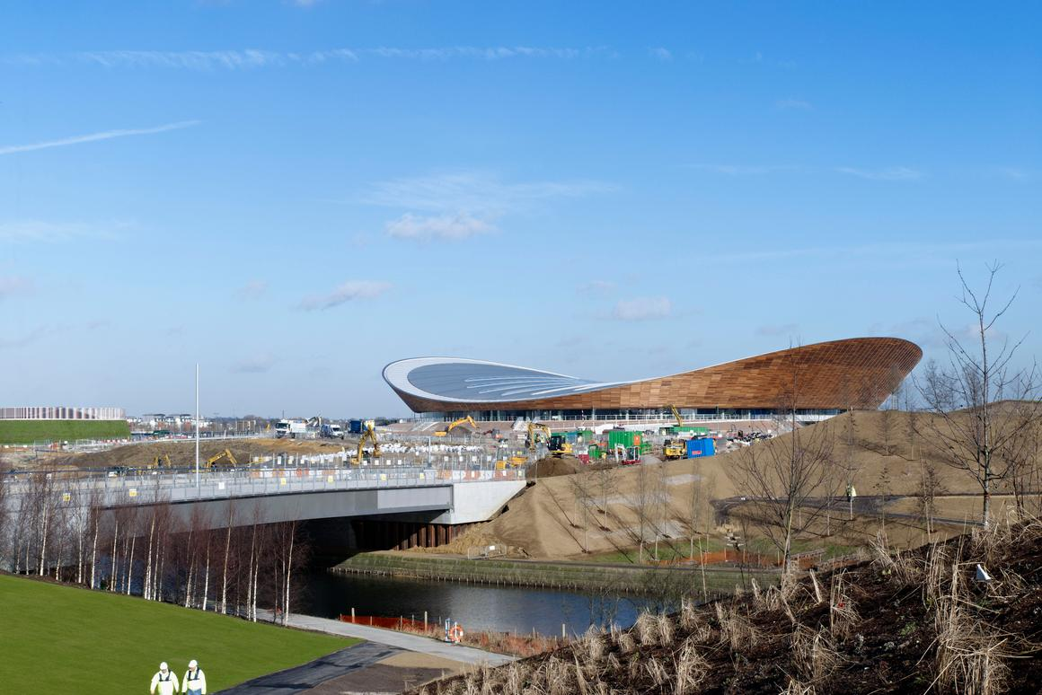 The completed velodrome sits at the north end of the Olympic Park(All images courtesy Olympic Delivery Authority)