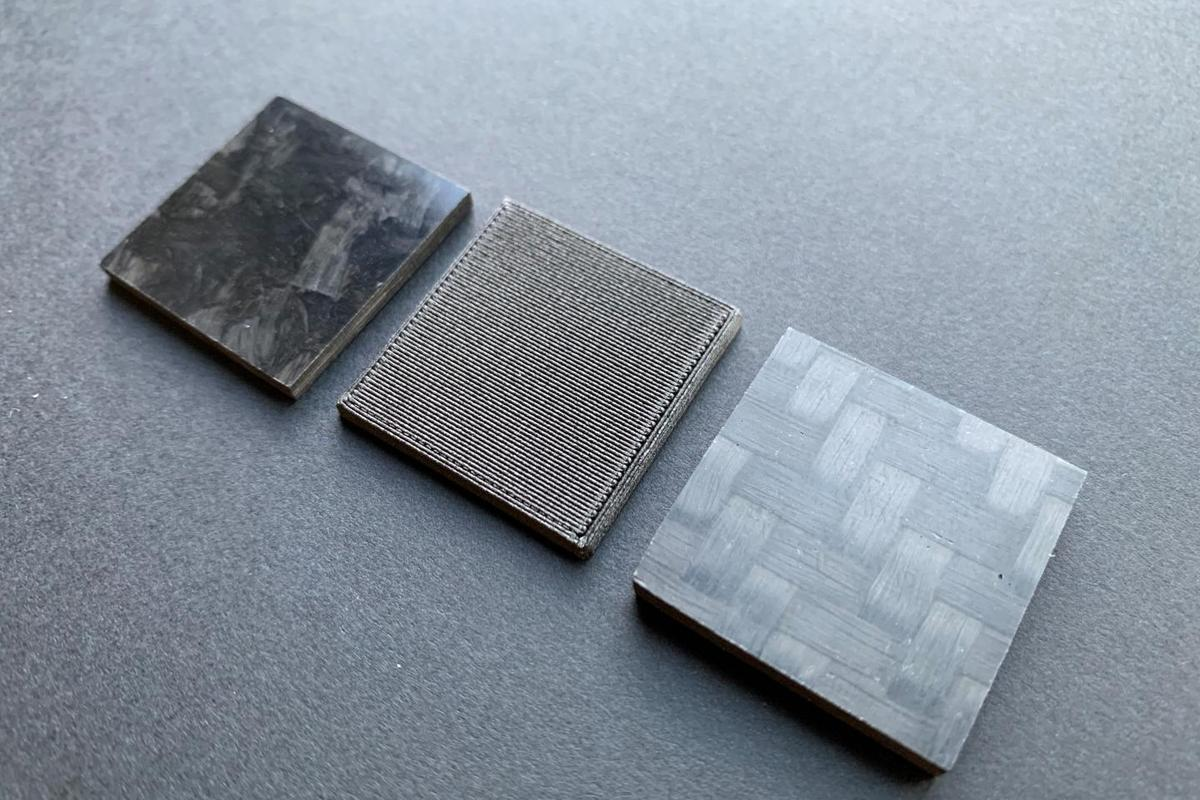 A total of five samples will be assessed, made of different types of carbon fiber