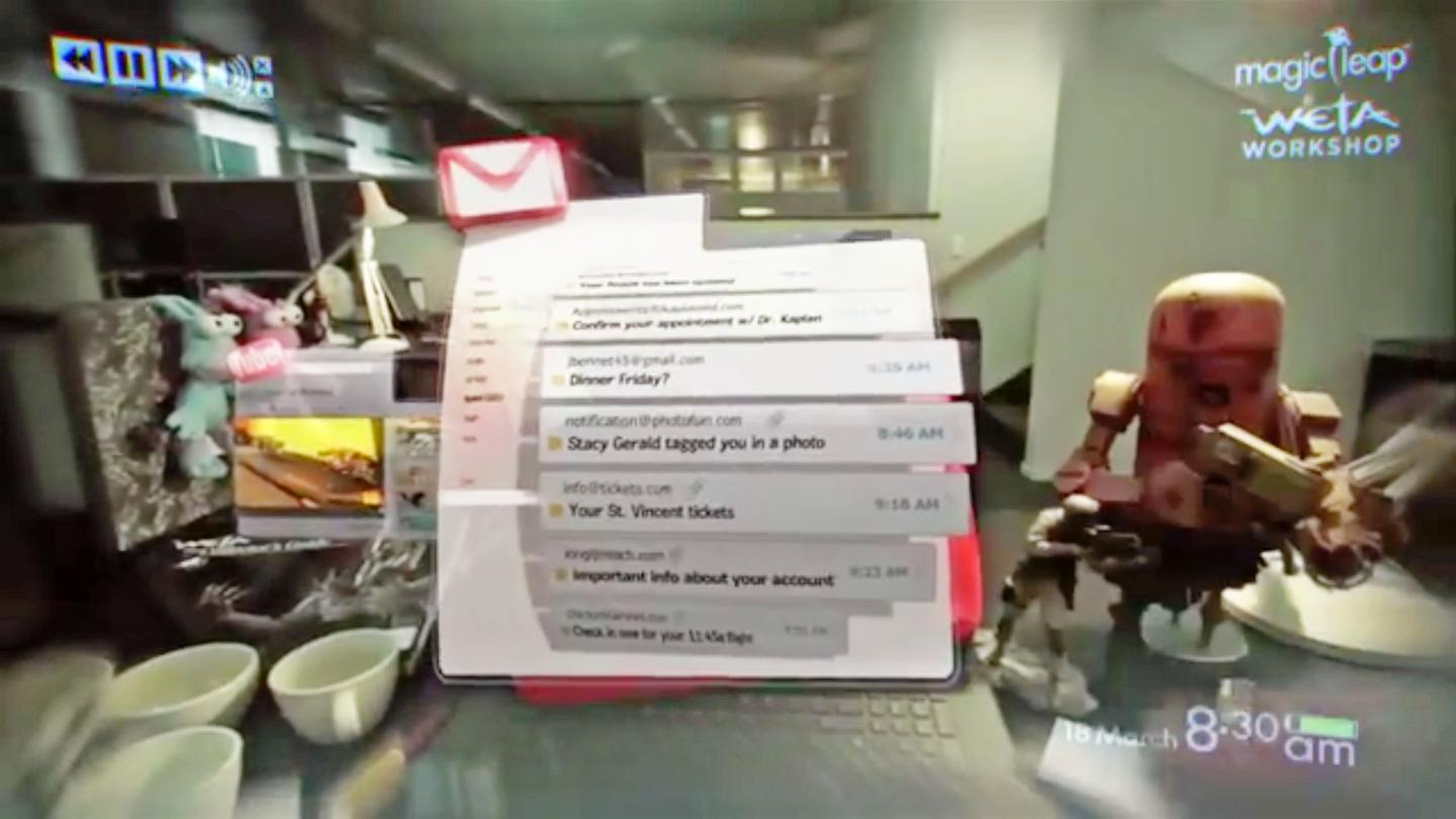 Magic Leap is slightly less mysterious today, as the startup showcased a video that teases what its take on augmented reality may look like