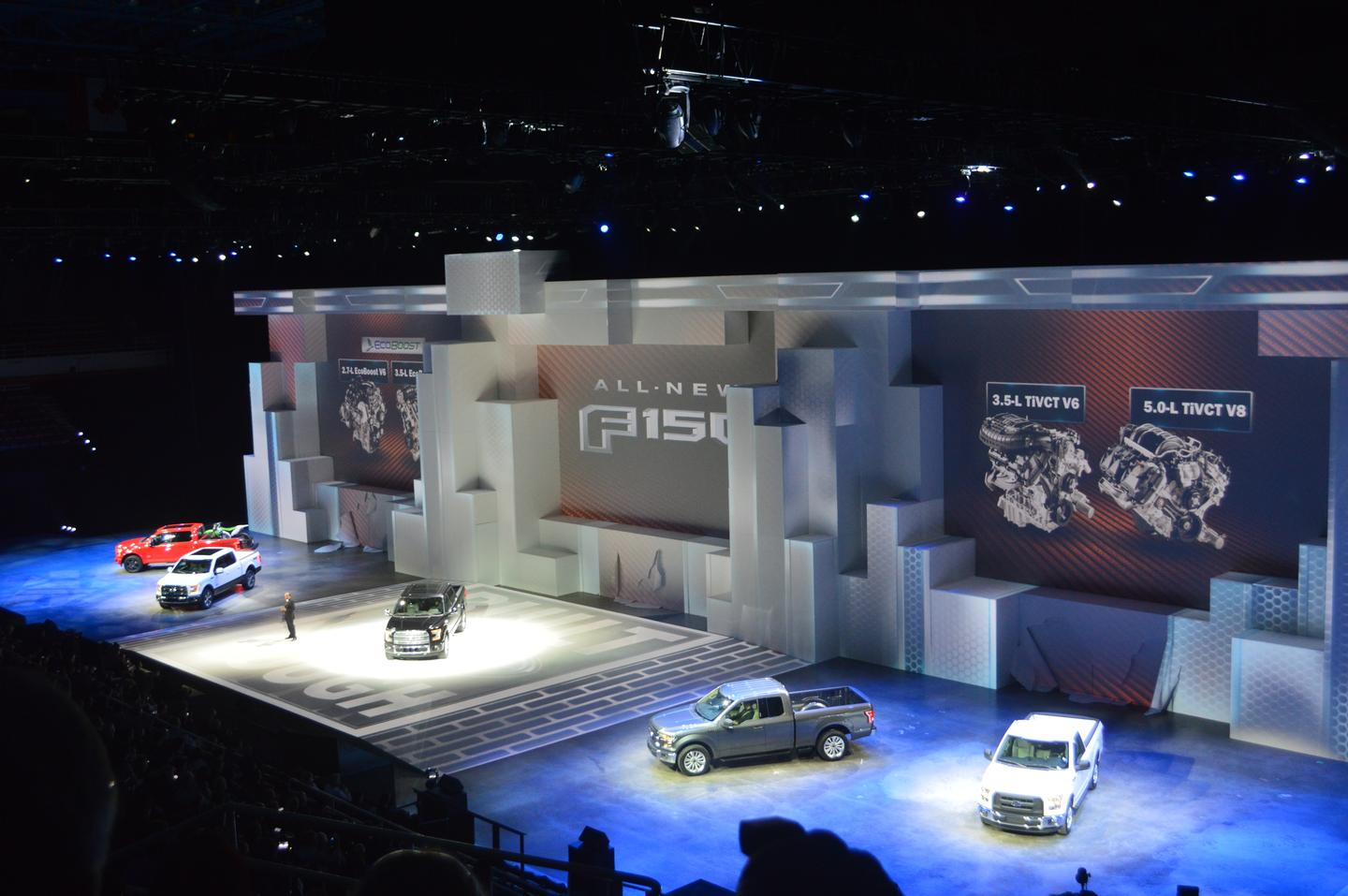 The new F-150 is announced at NAIAS 2014