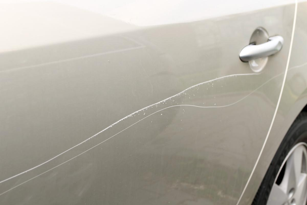 Paint scratches like this could be healed using KIT's new technology (Photo: Shutterstock)