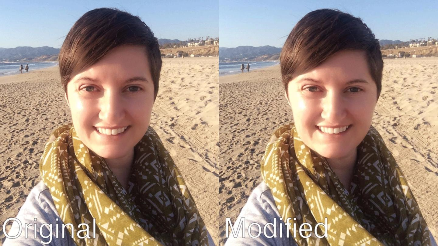 Though fairly subtle, the tool is able to make selfies look at lot more like the real thing