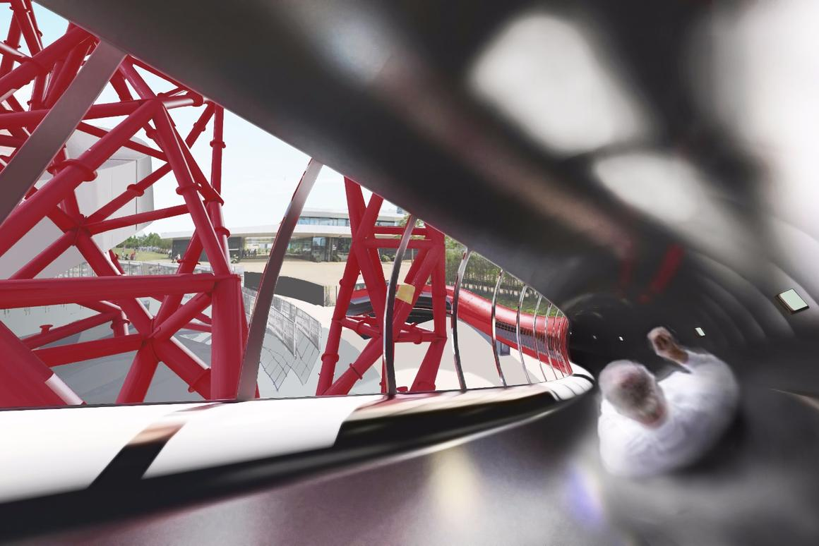 The slide will weave around the ArcelorMittal Orbit and will get visitors to the bottom in just 40 seconds