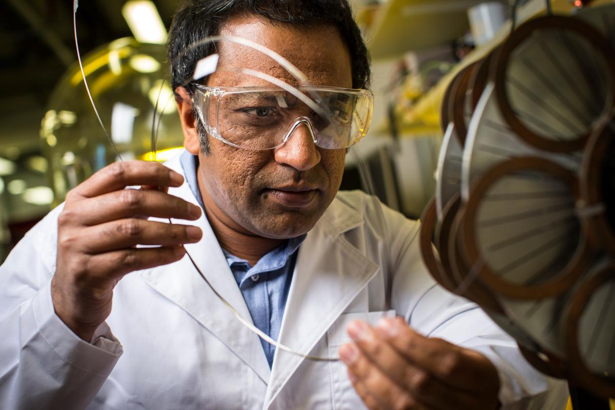 Dr Shahriar Hossain is developing a wind turbine that uses a magnesium diboride superconducting coil