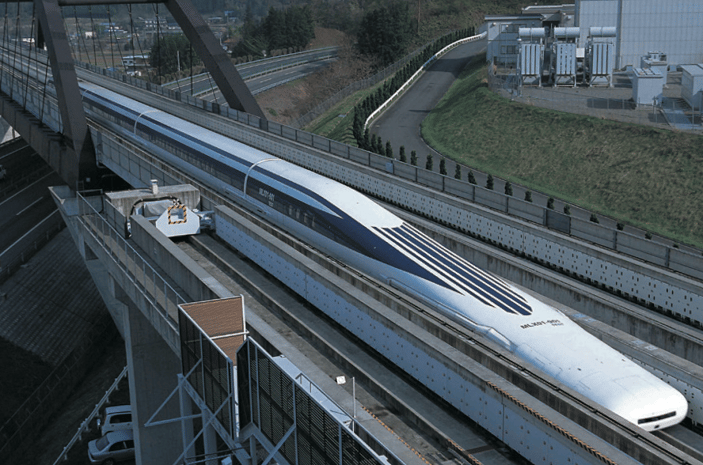 A maglev train broke the 600 km/h speed barrier in Japan (Image: Central Japan Railway Company)