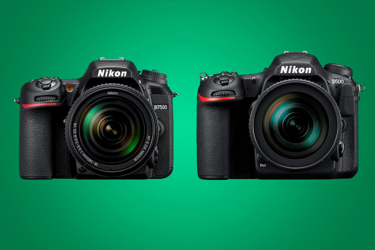 We compare the key specifications of the Nikon D7500 and the Nikon D500 DSLRs