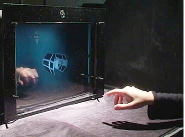 A laboratory mockup of a thin-screen LCD display with built-in optical sensors (Photo: Matthew Hirsch, Douglas Lanman, Ramesh Raskar, Henry Holtzman)