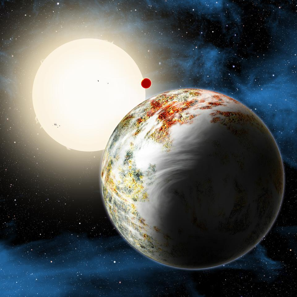 Kepler-10c is 17 times more massive than the Earth (Image: NASA/Harvard-Smithsonian Center for Astrophysics/David Aguilar)