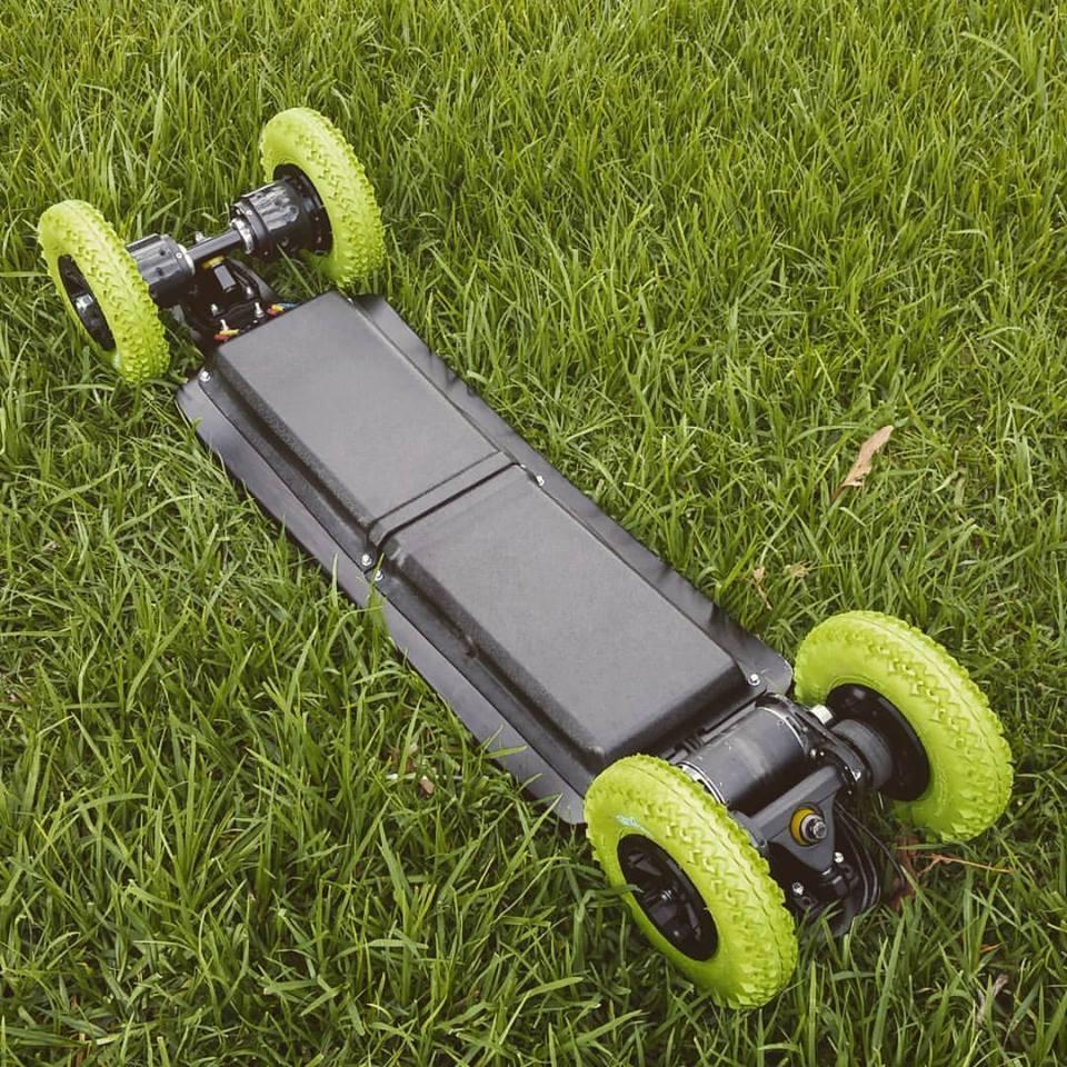 The Revo 4WDwith all-terrain wheel set-up