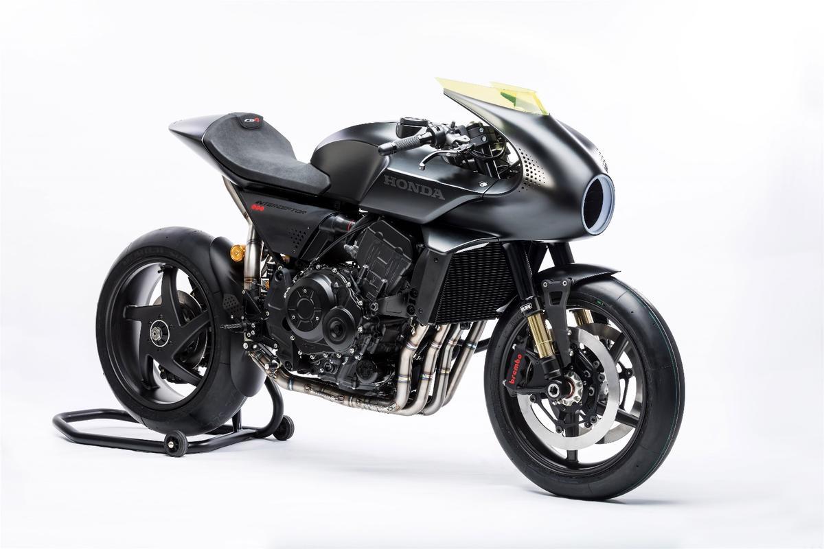 Honda's CB4 Interceptor concept catapults the retro cafe racer style into the future