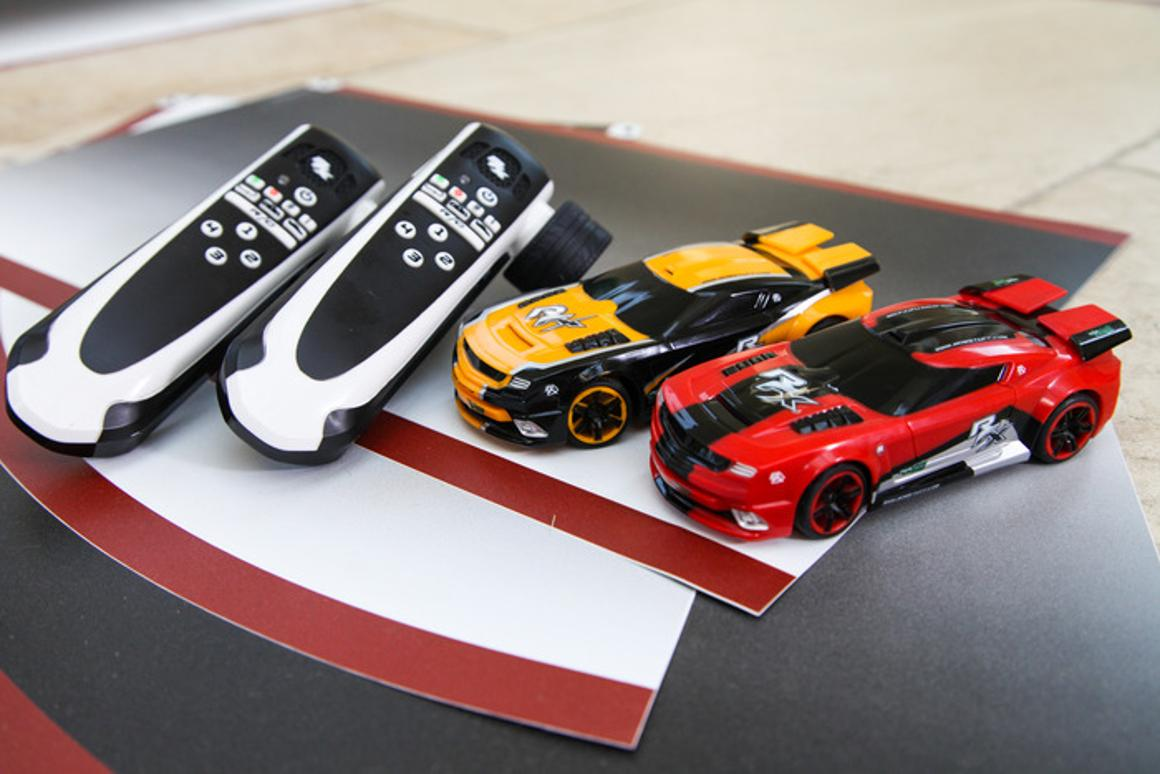 The Real FX R/C car system works like a slot track, but with some major advantages