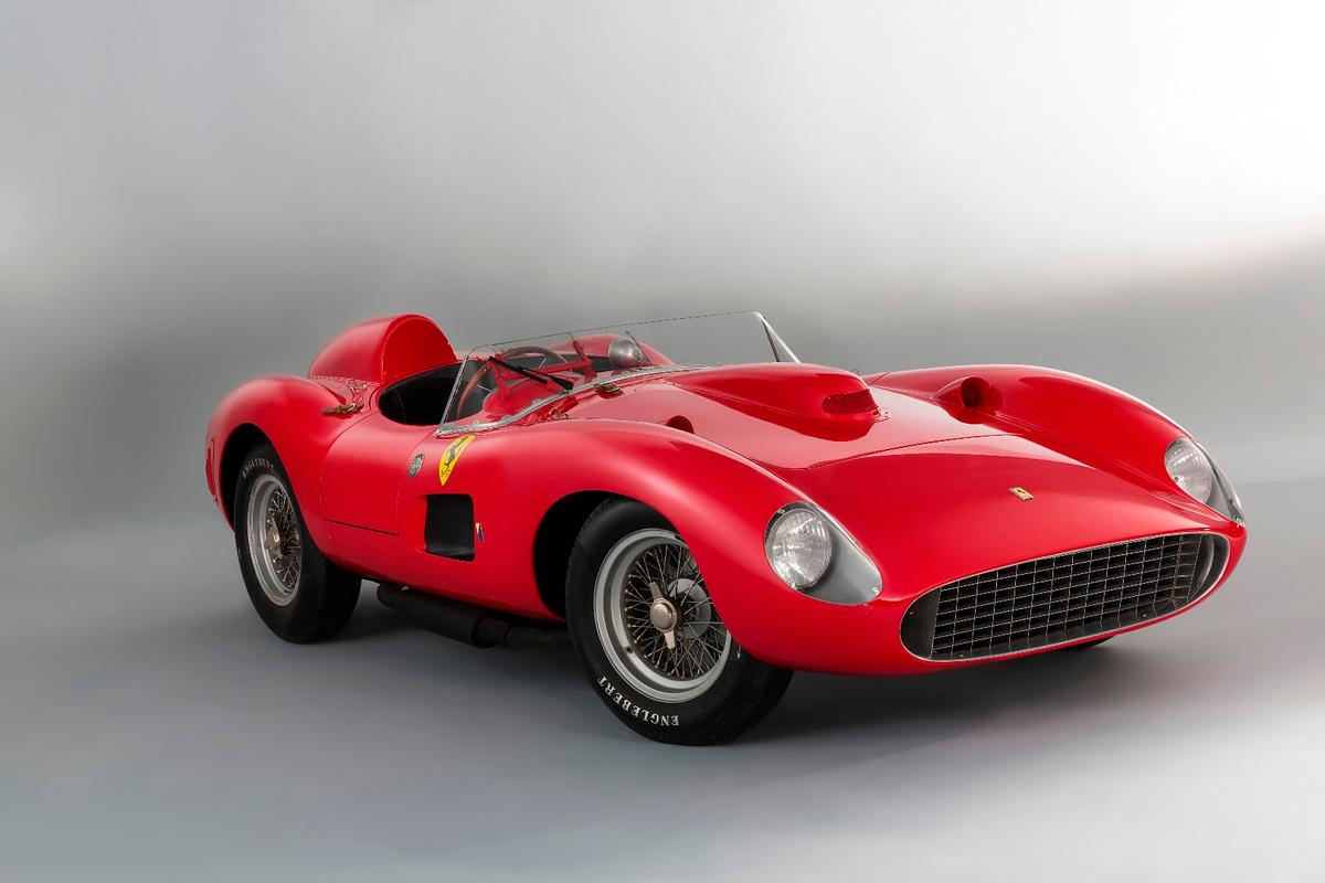 The star of the entire fortnight is a 1957 Ferrari 335 S Spider Scaglietti which is in with a rough chance of breaking the world record for an automobile at auction. It's estimated price of EUR €28,000,000 to €32,000,000 ($30,520,000 to $34,880,000) suggests it will still reach stratospheric heights in auction history, most likely becoming the sixth car to sell for more than $20 million, an evens chance of becoming the second car to sell for more than $30 million and an outside chance of the record.