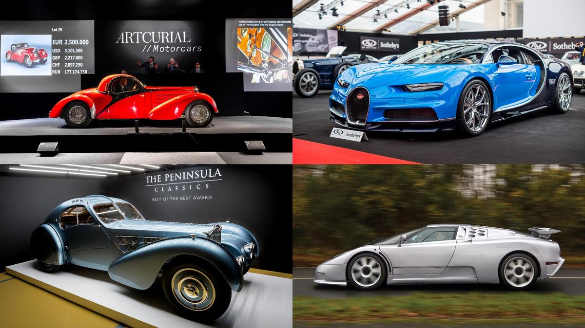 The Chiron (top right)topped the auction listings for the entire weekwhen it fetched €3,323,750 (US$4,082,171)