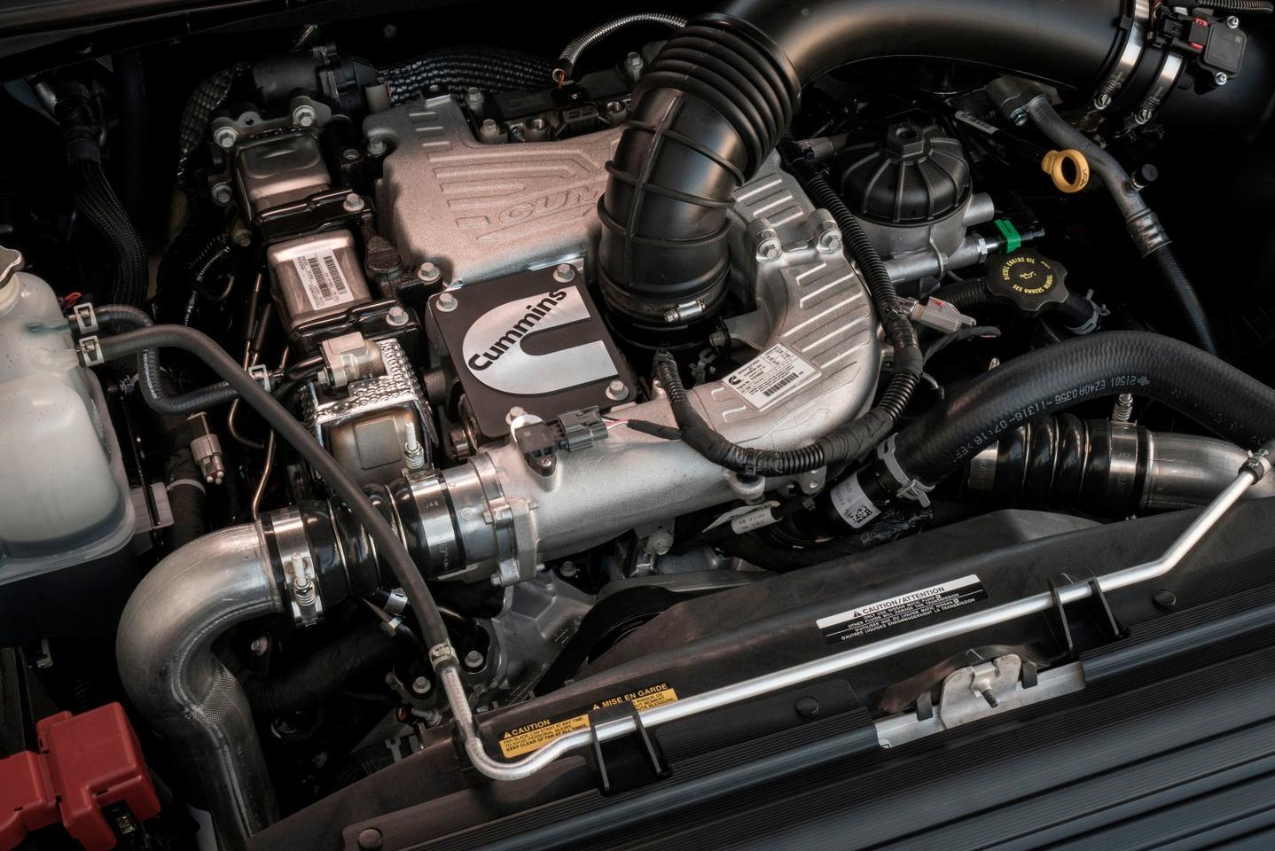 The Cummins diesel has 555 lb.ft of torque