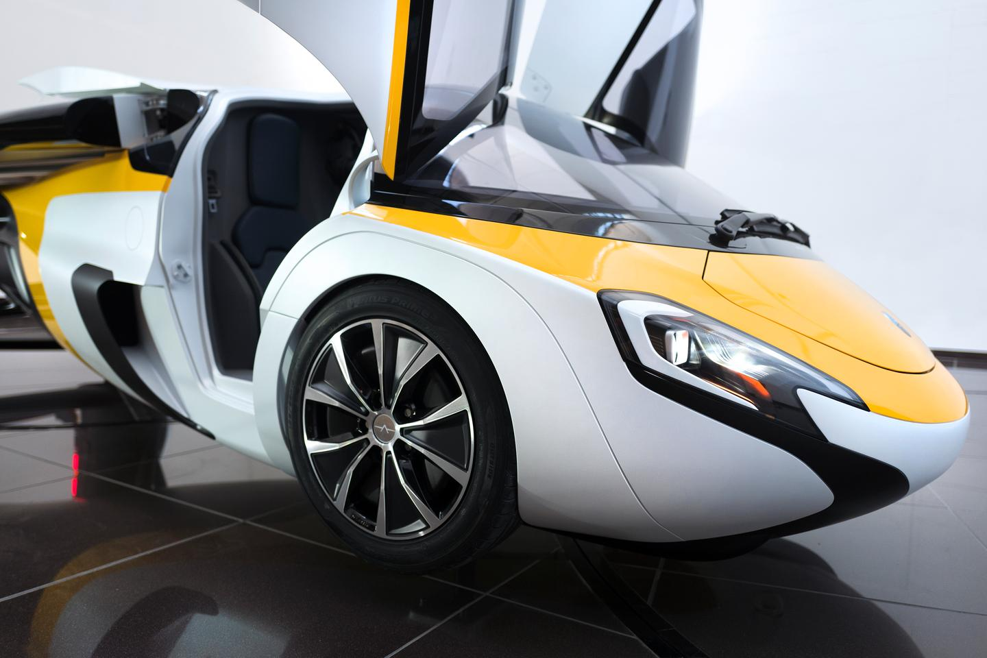 The AeroMobil Flying Car's doors open upward, so you know it's expensive
