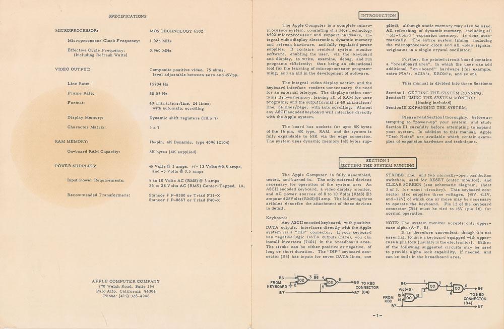 Rare original 1976 Apple-1 operation manual up for auction