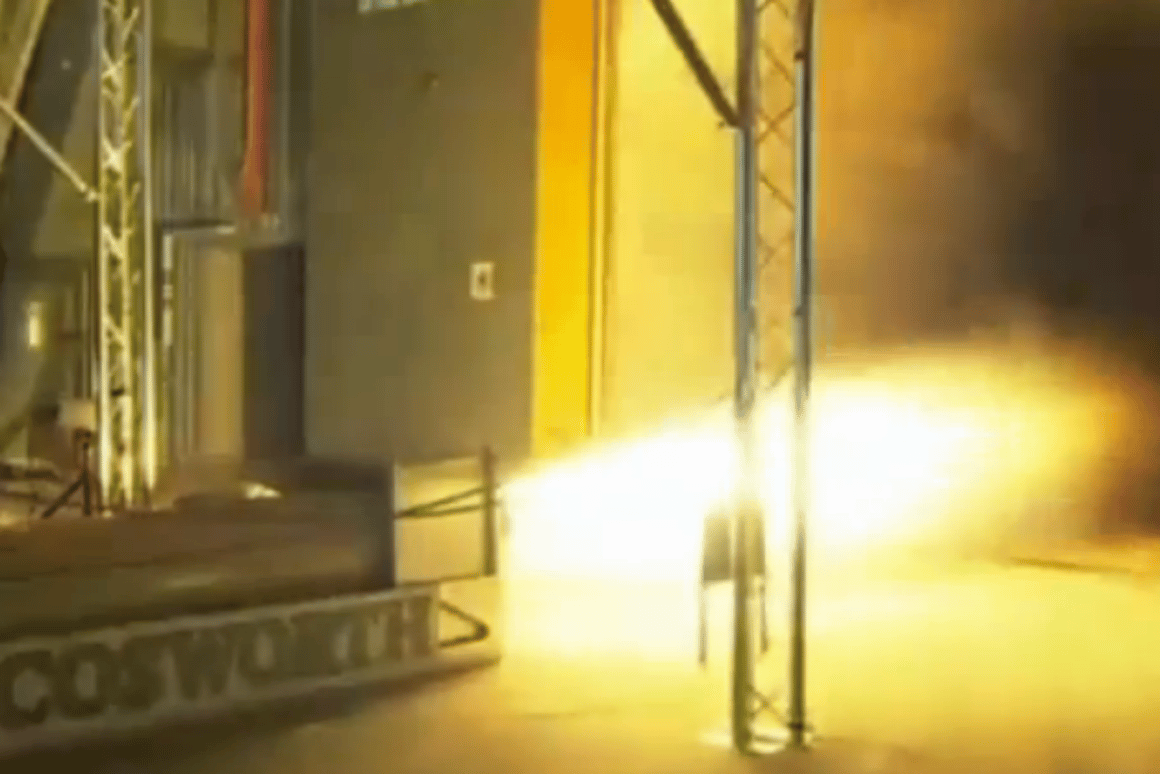 Today's test firing of the hybrid rocket system