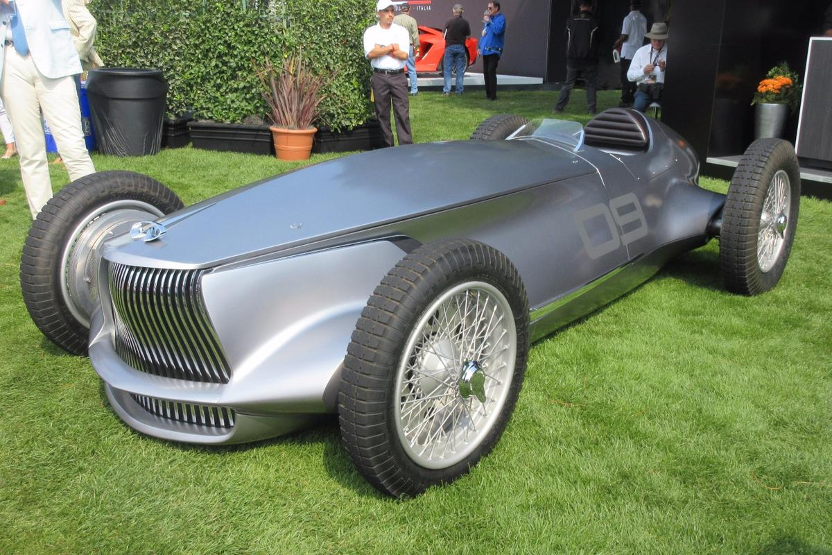 Infiniti was only launchedin 1989, but that didn't need stop it from creating a 1940s type race car