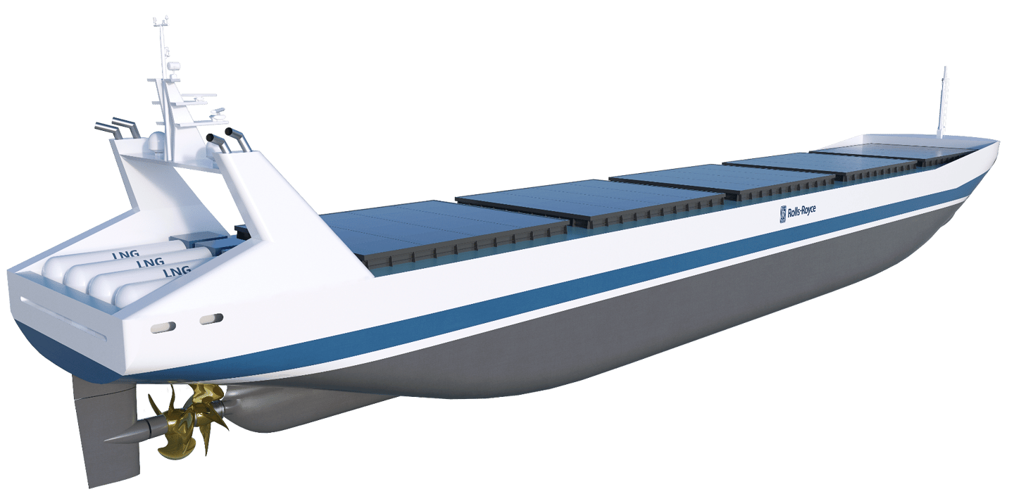 Artist's concept of a robotic dry carrier
