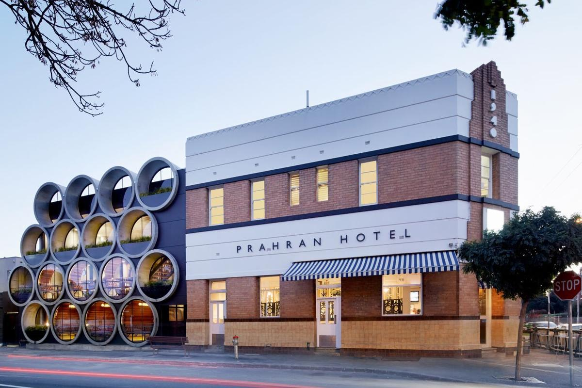 The newly renovated Prahran Hotel features the clever use of recycled concrete pipes