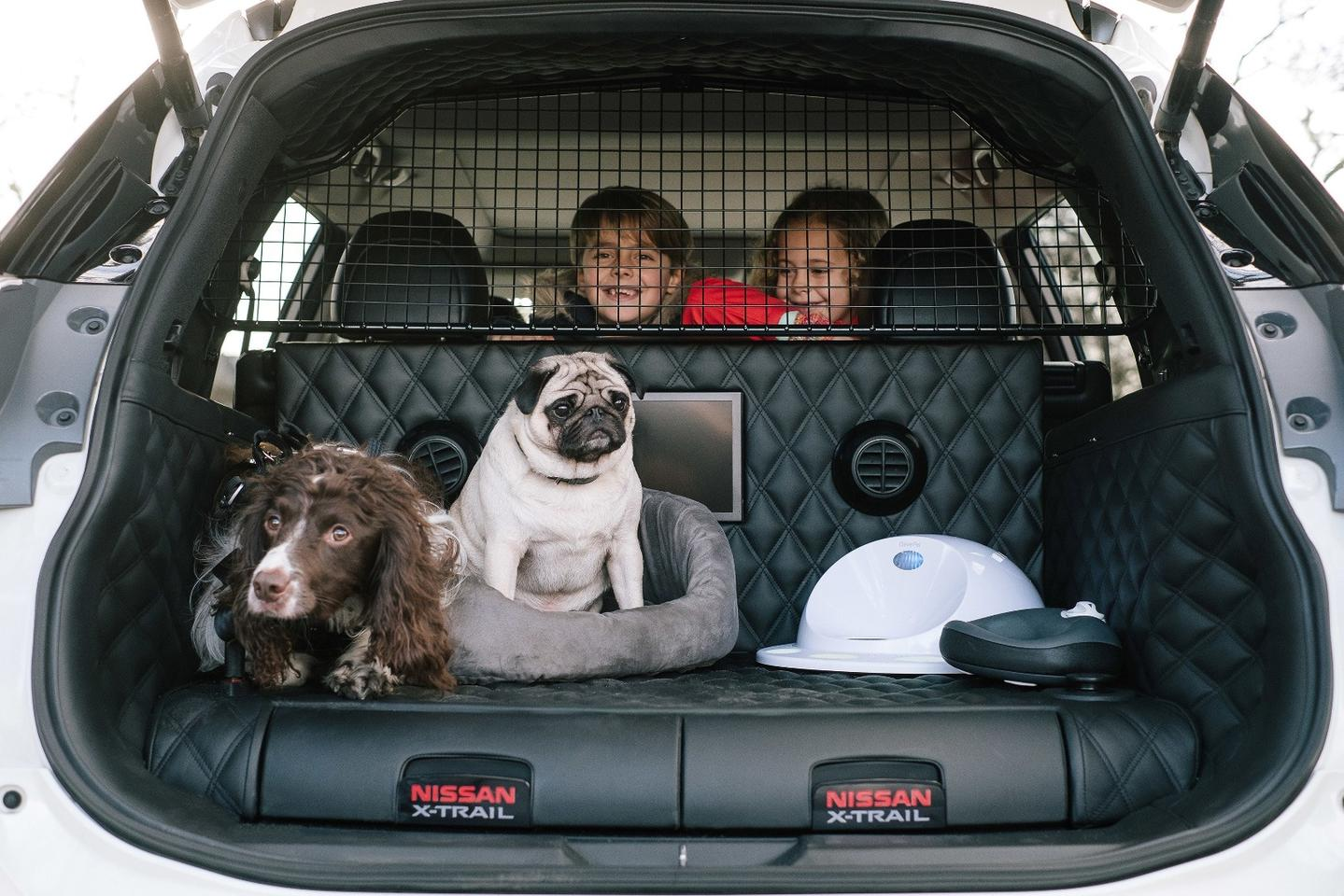 The Nissan X-Trail 4Dogs concept keeps two dogs comfy on drives of all kinds