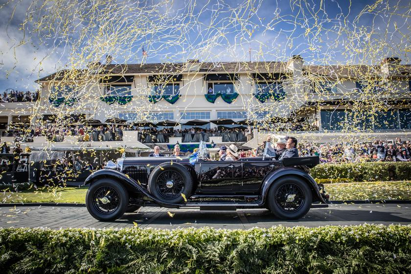 The winner of Best Of Show at the Pebble Beach Concours D'Elegance was this 1931 Bentley 8 Litre Gurney Nutting Sports Tourer, owned by The Hon. Michael Kadoorie of Hong Kong.