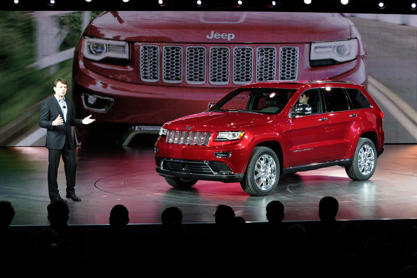 Mike Manley, President and CEO – Jeep Brand, Chrysler Group LLC, unveiled the 2014 Jeep Grand Cherokee at the North American International Auto Show