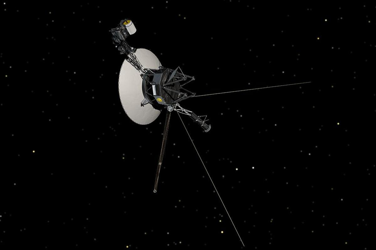 An artist's impression of the Voyager spacecraft