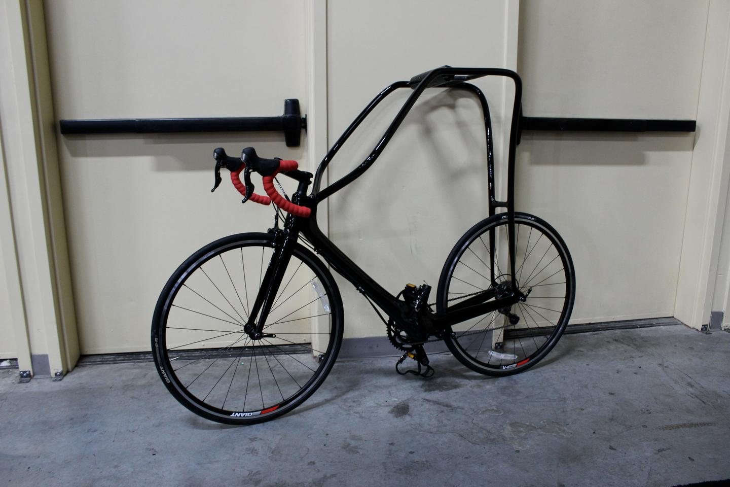 The first production model of the Flying Rider, at Interbike 2014