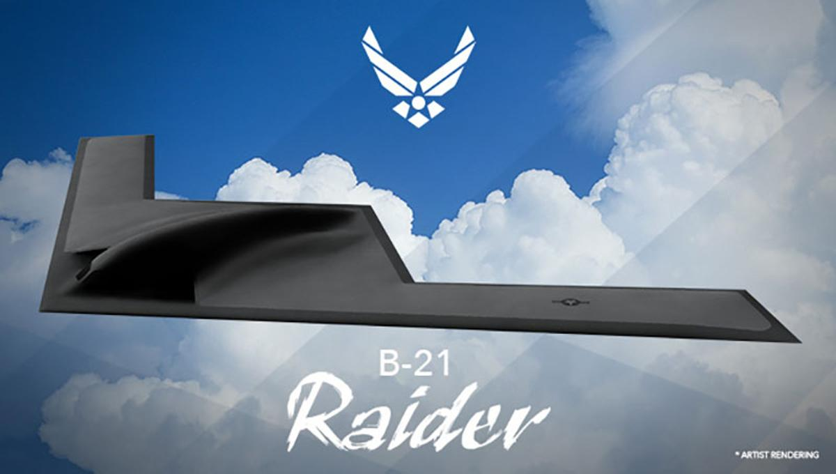 Artist's concept of the newly namedB-21 Raider