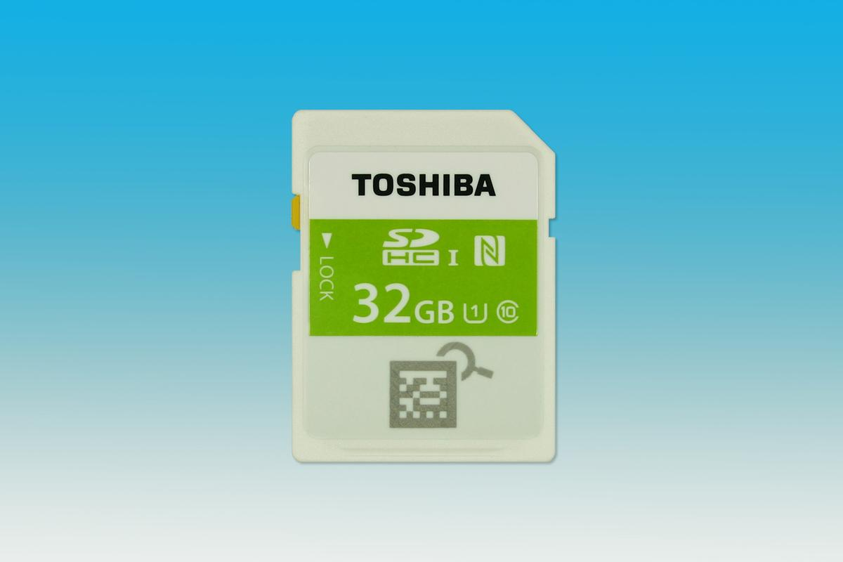 Toshiba has launched the world's first SDHC memory card to feature built-in NFC