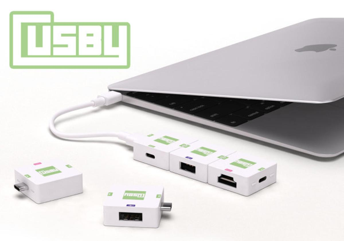 Cusby provides additional ports to laptops equipped with only a USB-C connection