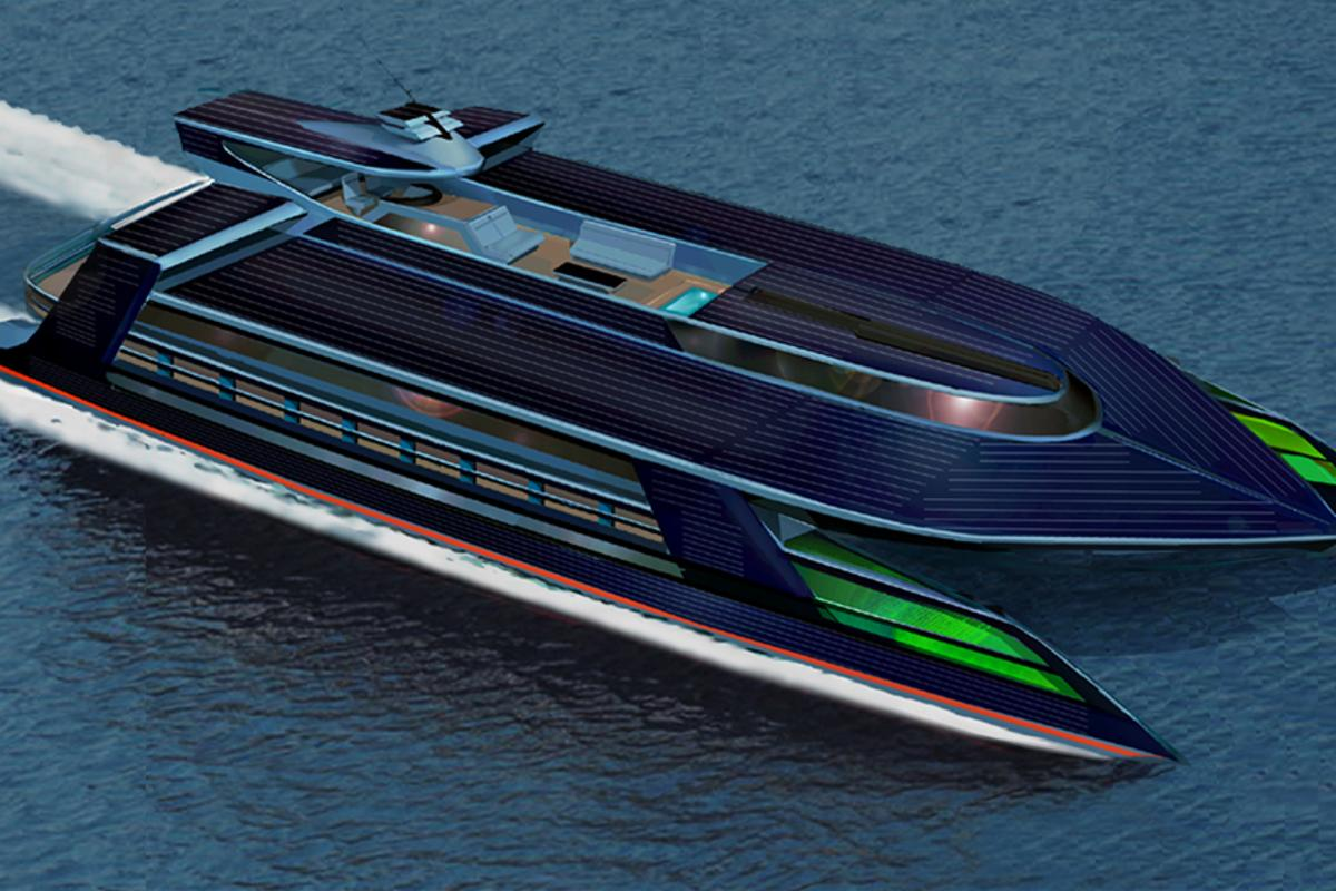 The self-sufficient Ocean Empire LSV superyacht from Sauter Carbon Offset Design