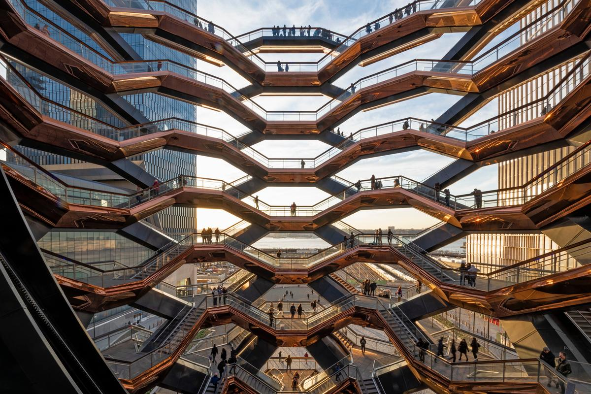 Vessel in New York won the Award for Structural Artistry in Non-Building Structures