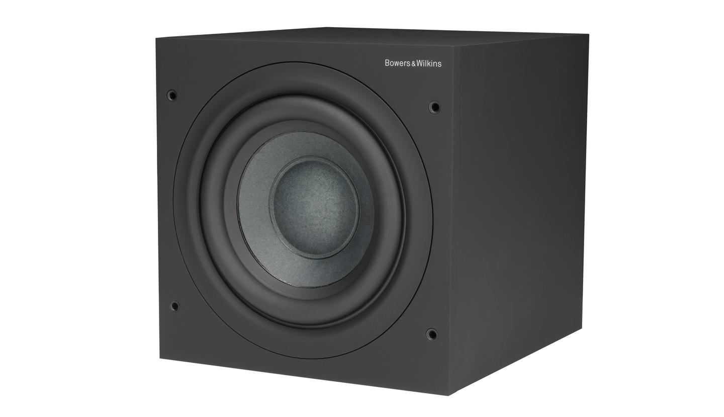 The ASW608 subwoofer delivers the bass in B&W's MT-50 Mini Theater system
