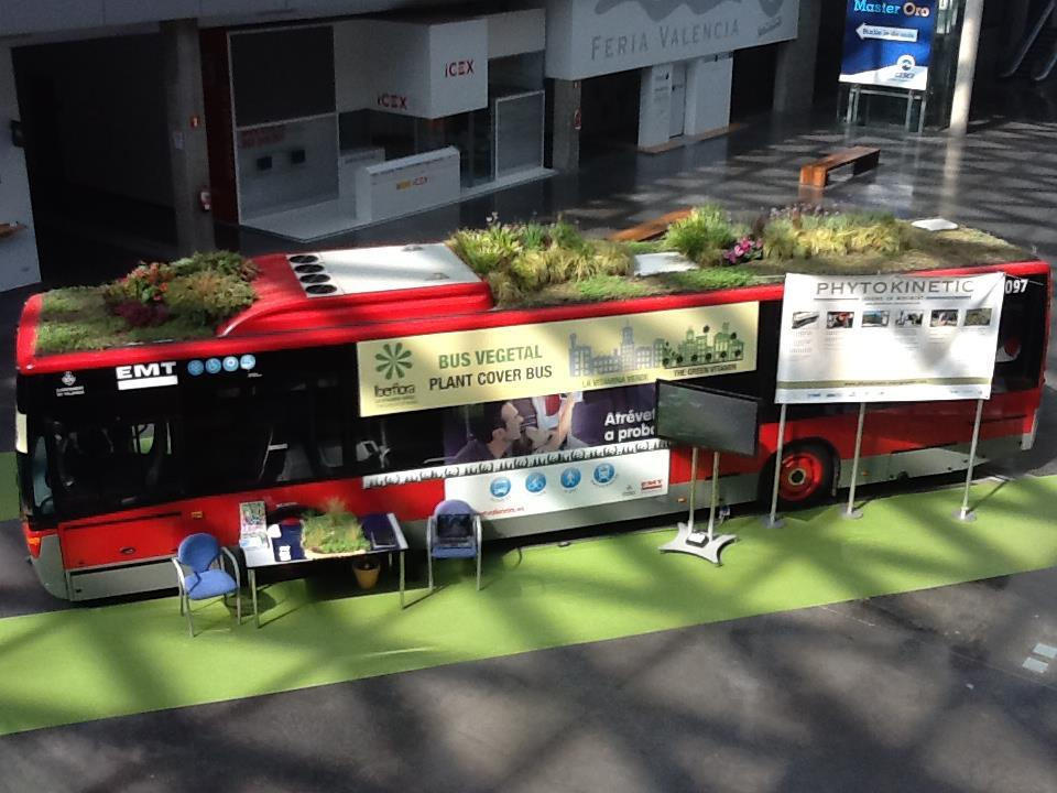 Phytokinetic is a green roof concept for public transport vehicles to bring a touch of nature to urban centers
