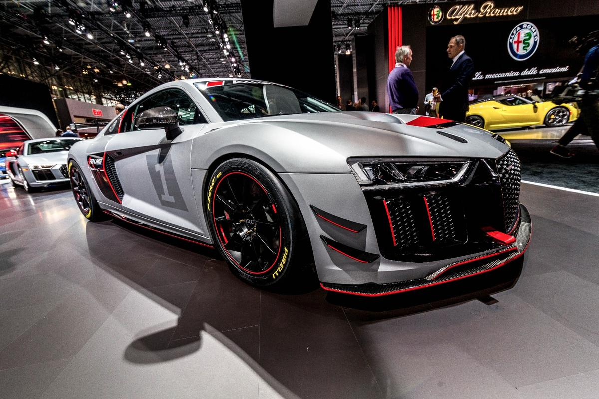 Audi hasn't held back on the aero touches with the R8 V10 LMS GT4