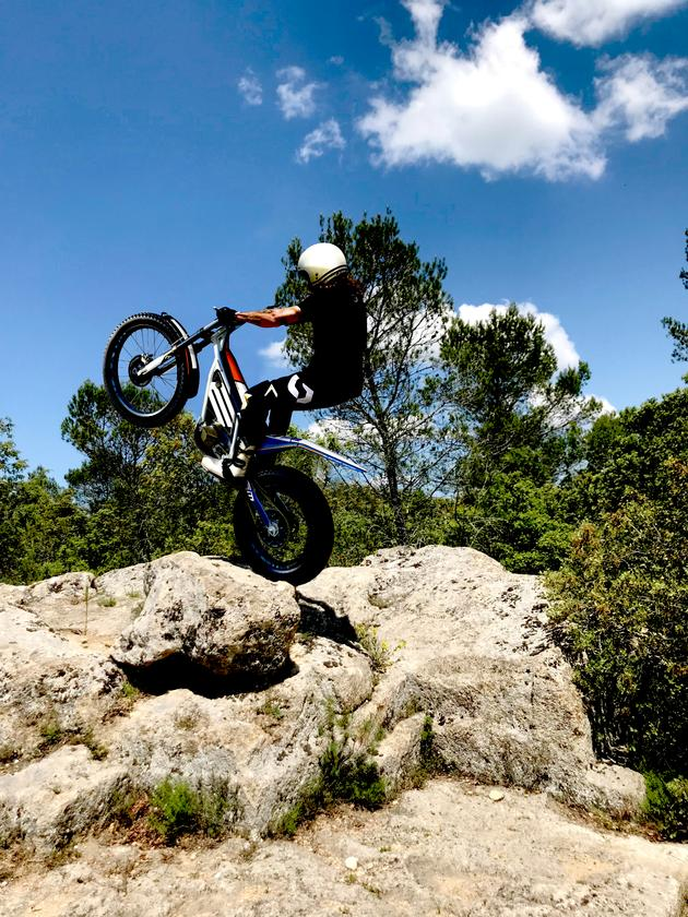 The thrills of trials riding, without the clatter of noisy engines