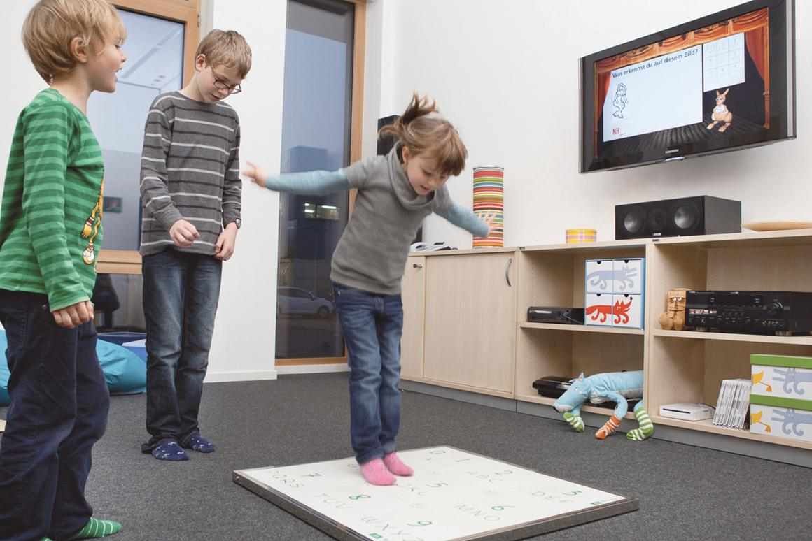 A new take on HOPSCOTCH is designed to motivate the user to move more but in a playful way