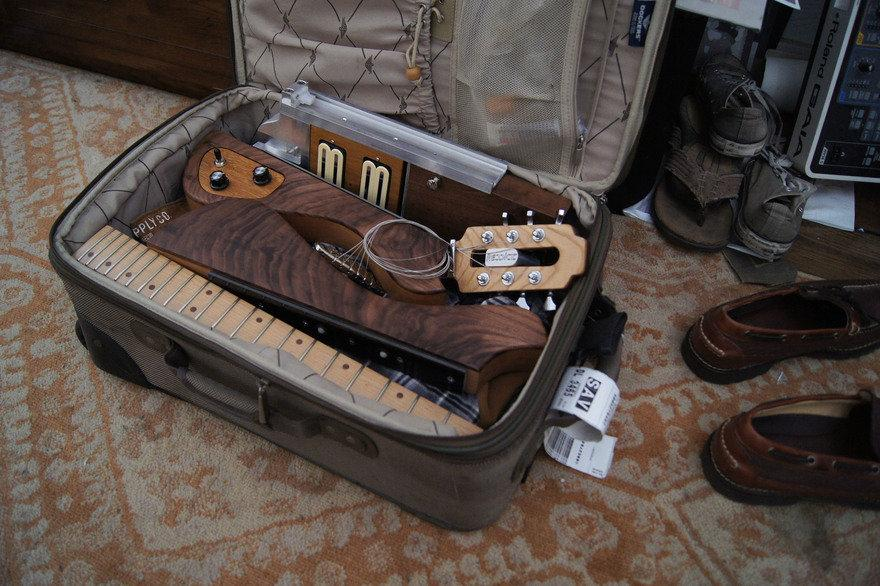 The Mercury Modular Guitar can be broken apart and crammed into a small suitcase before ordering a taxi to the airport