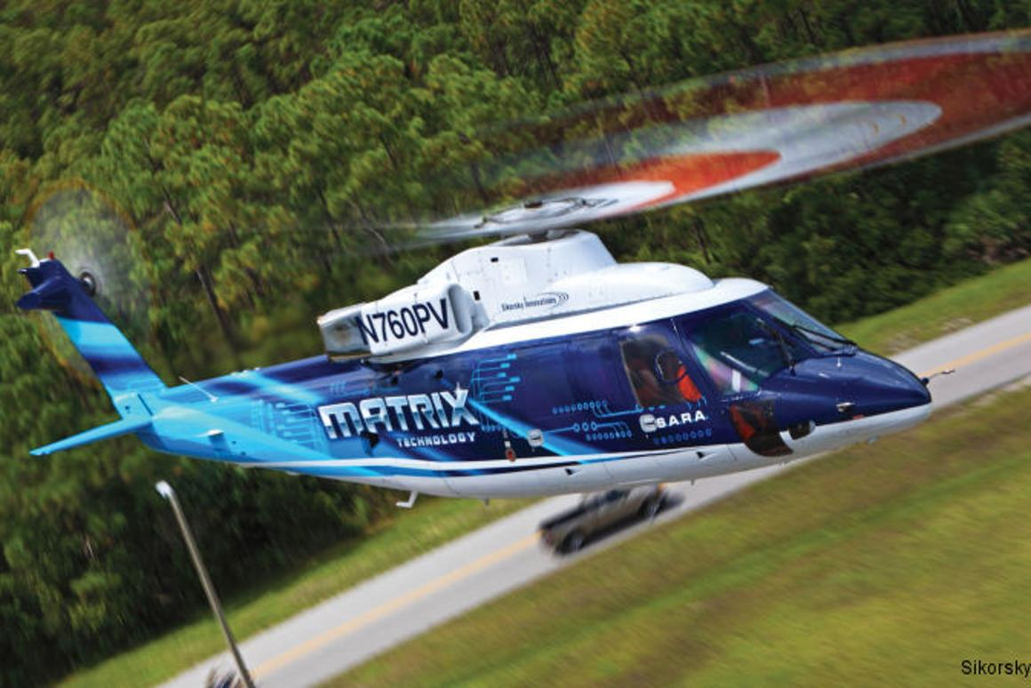 Utilizing Sikorsky's MATRIX system, a Sikorsky S-76 commercial helicopter has taken off, flown, and landed completely autonomously