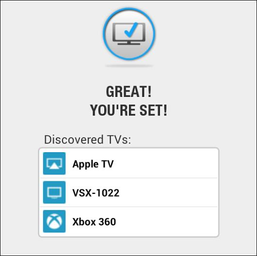 Select the device you want to stream to