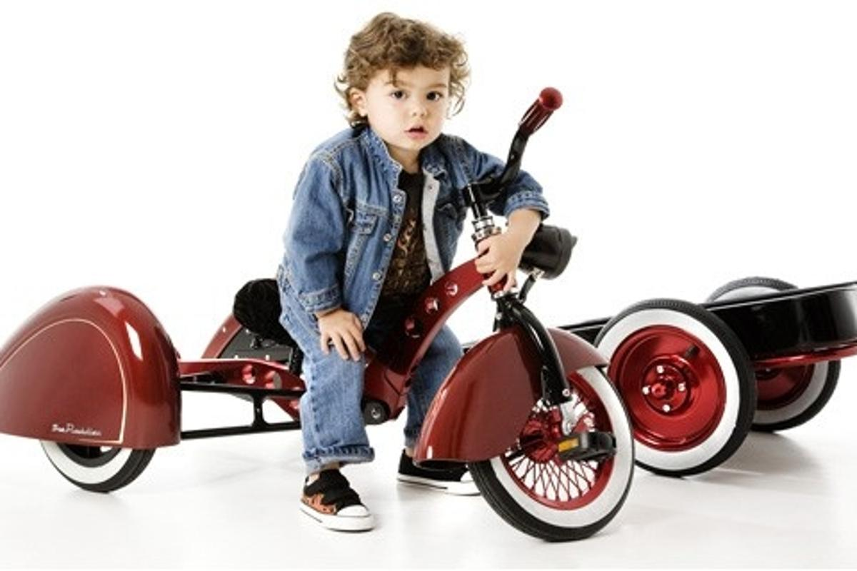 The Kid Kustoms' trike conversion kit transforms a stroller into a new trike