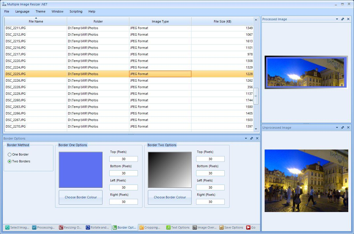 Multiple Image Resizer .NET allows users to batch resize images and perform other actions