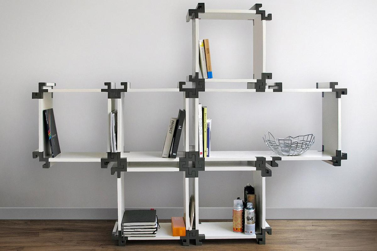 The NV01 modular bookcase by Noir Vif can be configured to suit individual needs