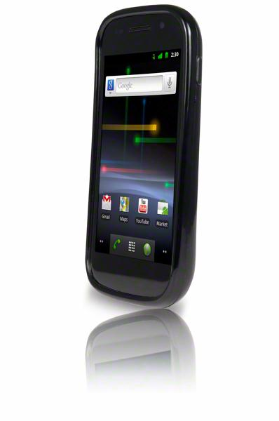 The Nexus S has a 4-inch, 480 x 800 resolution contour display with a curved glass screen and Super AMOLED capacitive touchscreen technology
