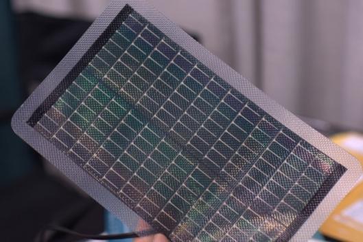 Powerfilm's thin film solar cells on a plastic backing