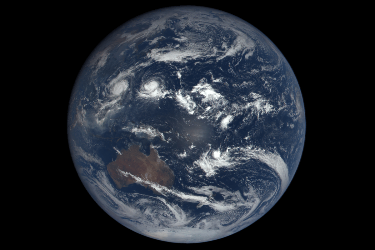 Image of Earth captured by DSCOVR's EPIC camera on Sept. 17